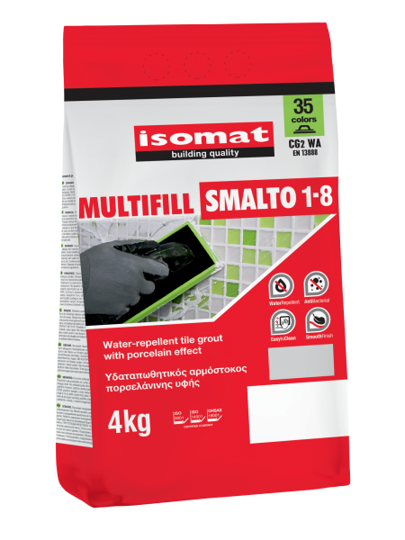 MULTIFILL SMALTO 1-8 GREEN, 4KG